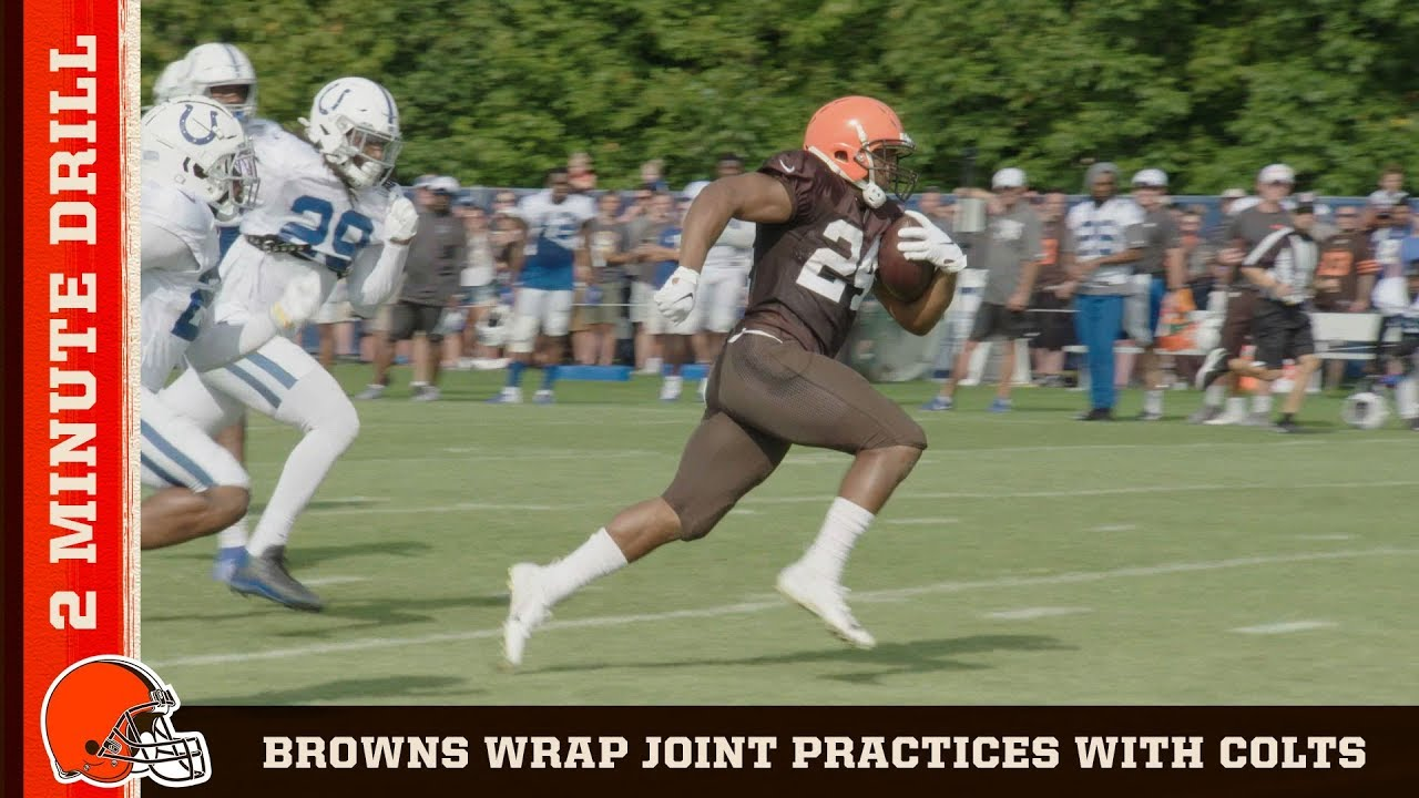 Watch Building the Browns: Colts Joint Practices