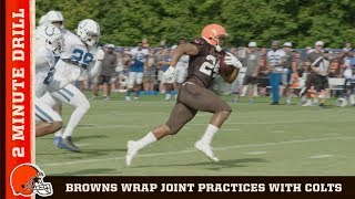 Browns Conclude Joint Practices w/ Colts for Week 2   Browns 2 Minute Drill