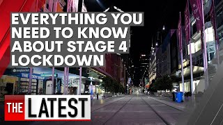 Everything you need to know about Victoria's Stage 4 lockdown | 7NEWS