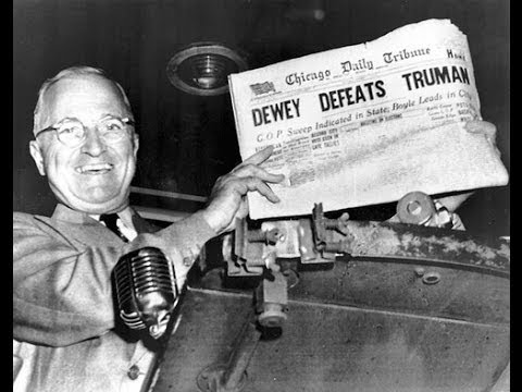 DEWEY DEFEATS TRUMAN: THE GREATEST UPSET IN AMERICAN POLITICAL HISTORY (PT. 1 OF 2)