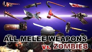 Dead Trigger 2 All Melee Weapons Mk10 vs. Zombies HD