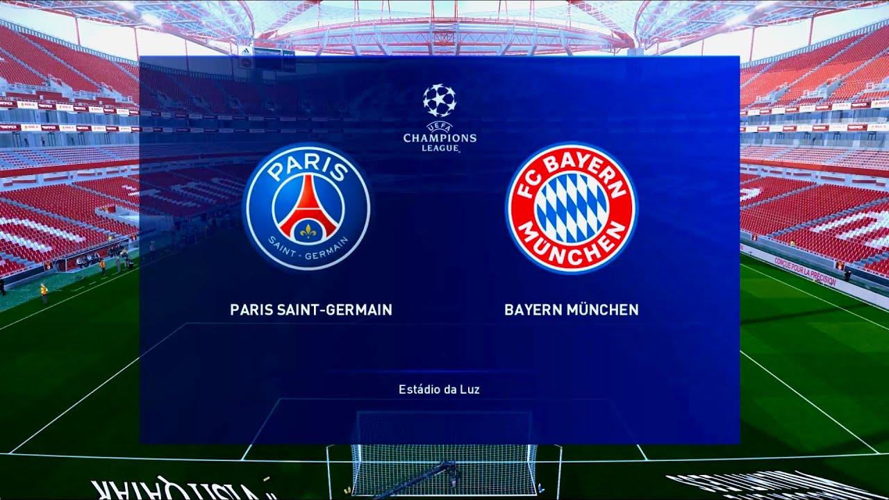 Paris Saint Germain Vs Bayern Munich Estadio Da Luz Uefa Champions League Pes 2020 Youtube