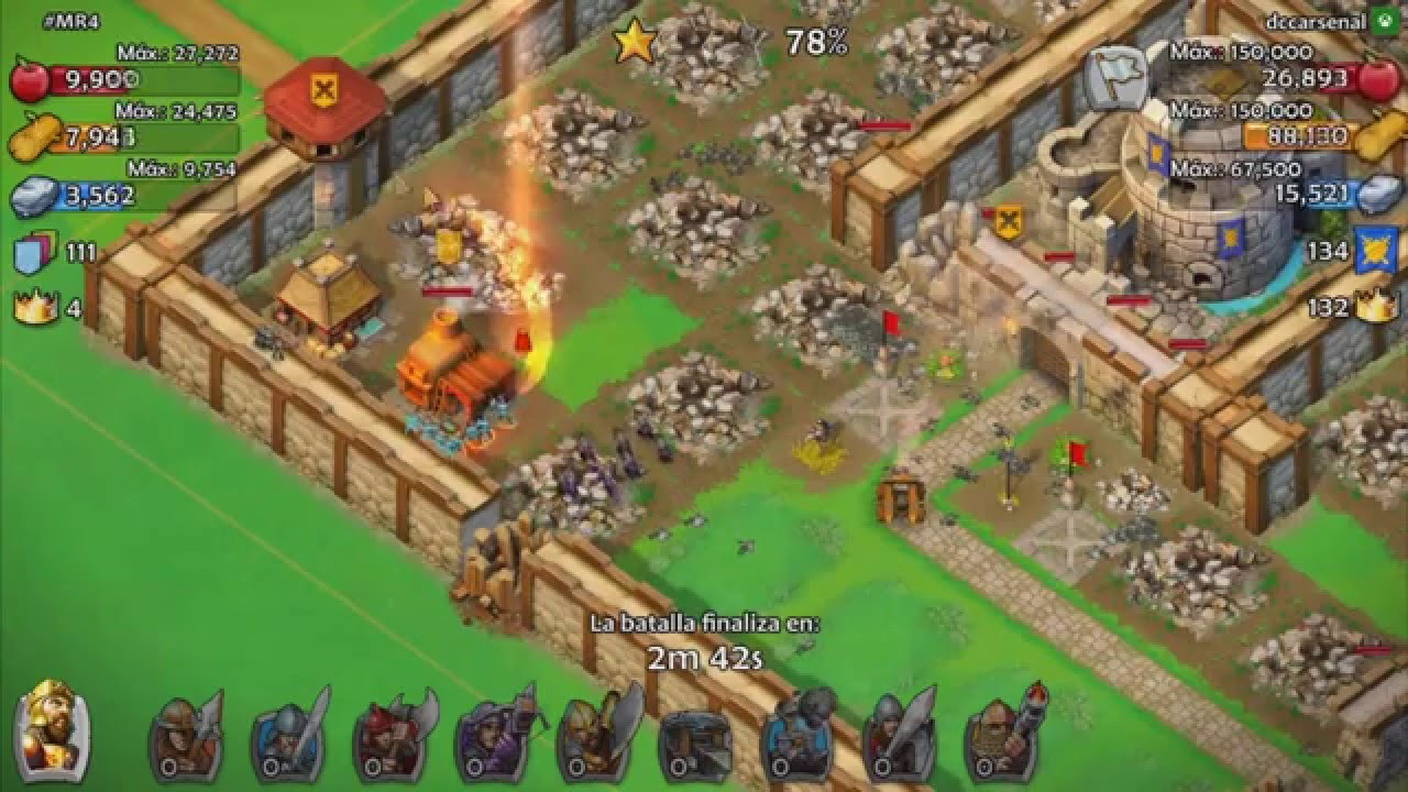 Age of empires castle siege ataque al 100 edad 5 youtube