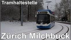 Tramhaltestelle Zürich Milchbuck, Schweiz 2019