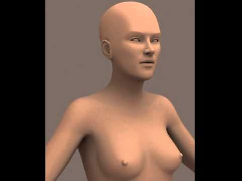 3D Model of Nude Female Human 01 Review
