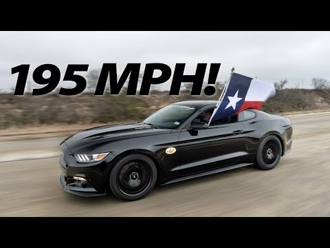 2015 hennessey ford mustang hits 195 2 mph video. Black Bedroom Furniture Sets. Home Design Ideas