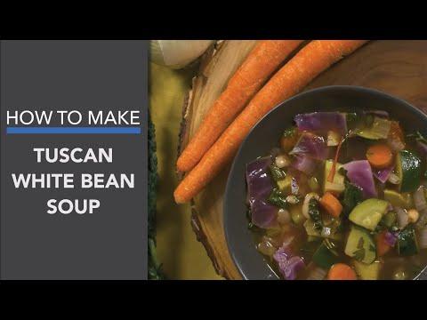 Tuscan White Bean Soup Recipe: A Vegan & Healthy Mediterranean-Inspired Soup