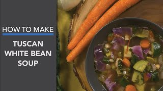 Tuscan White Bean Soup Recipe: A Vegan & Healthy Mediterranean-Inspired Soup
