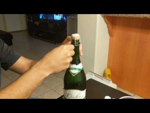 Wolf opening the third bottle