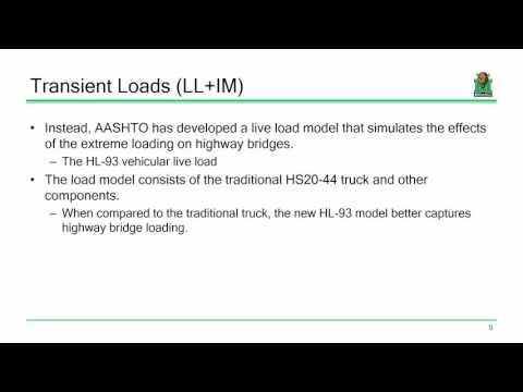 CE 618 Lecture 03a:  Overview Of Bridge Loads (2016.09.06)