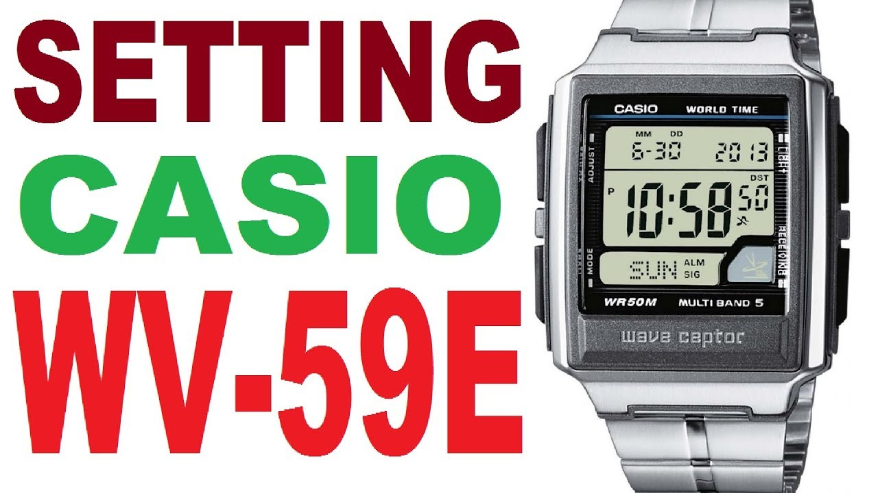 Setting Casio WV-59E manual 3053 - YouTube 825d1d05d