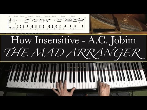 Jacob Koller - How Insensitive - Bossa Nova Piano Arrangement with Sheet Music
