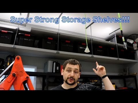 How to Build Garage Shelving   Easy, Cheap and Fast!