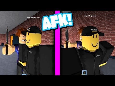 AFK TROLL IN ROBLOX ASSASSIN!!