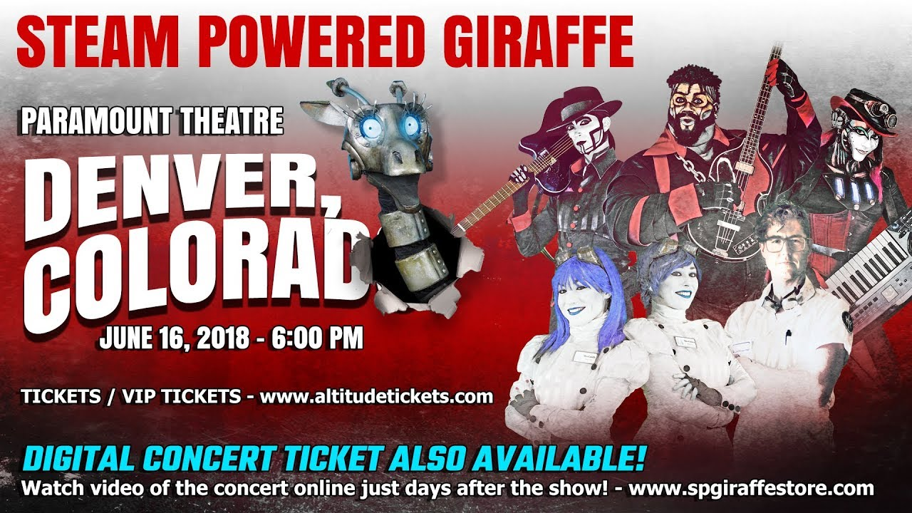 Live In Denver Colorado Advertisement Steam Powered Giraffe Youtube