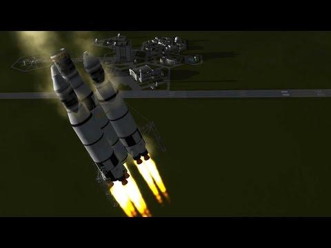 KSP - Munlanding on reusable landing rocket - edit