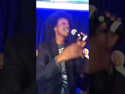 Ilhan Omar with K'naan in DC for her Party to Congress m