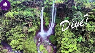 ✔ Can you Dive a Waterfall? Bali, Sekumpul Waterfall, DVR FPV Video!