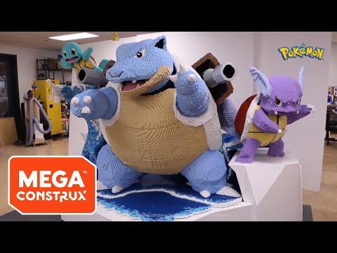 Behind The Scenes: Blastoise Evolutions Big Build Timelapse | Pokémon | Mega Construx