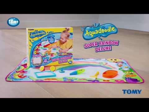 Aquadoodle Килимче за рисуване Супер цветна Дъга Делукс #HQuBFv35kYs