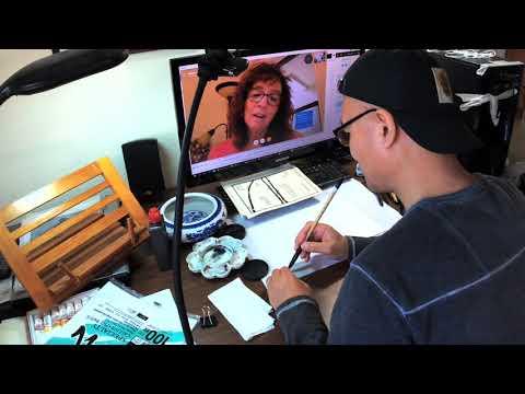 Henry Li's Skype Training Video With Jodye (1/2) On Painting Bamboo