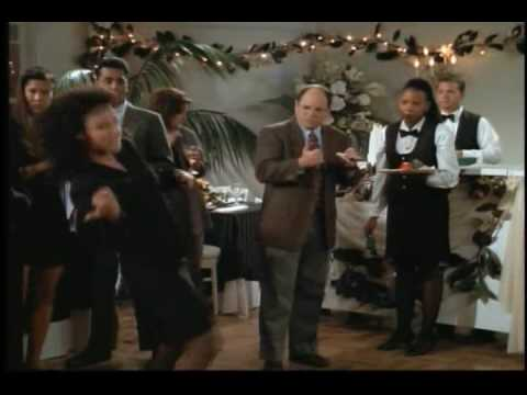 Elaine Marie Benes (Julia Louis-Dreyfus) from Seinfeld dances.