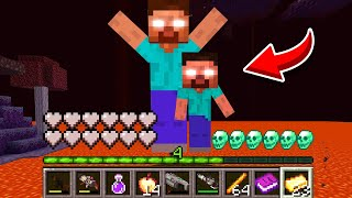 How to play HEROBRINE DADDY in Minecraft! CURSED family HEROBRINE! BUT IT'S UNLUCKY MOMENTS