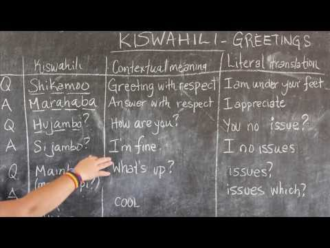 Video #1 - GO! presents: BEST Swahili Tutorials - GREETINGS (live from Tanzania)