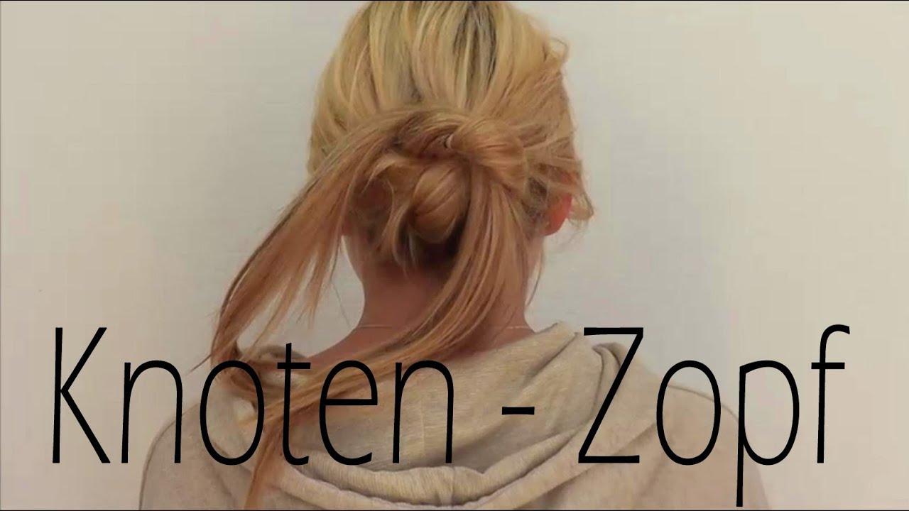 Haar-Tutorial: Knotenzopf - Super schnelle / einfache Alltagsfrisur