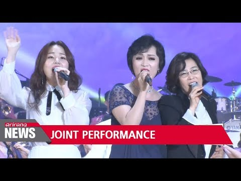 South Korean and North Korean art troupes finish last joint pop concert