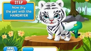 играем в игры для  дитей №3 (уход за животным)