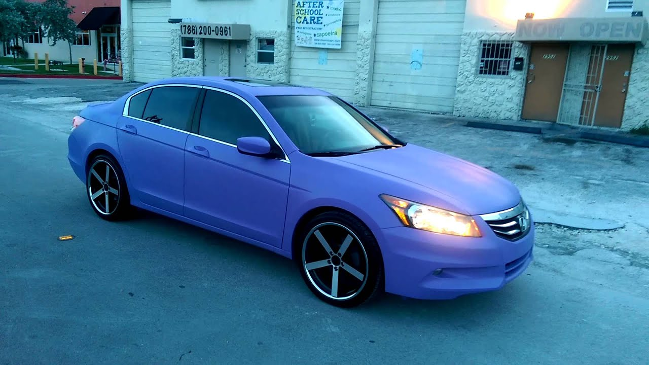 Dubsandtires com plastic dipped 2012 honda accord purple 20 inch giovanna mecca by dubsandtiires youtube