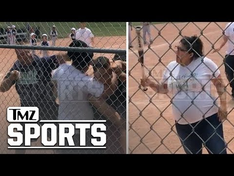 Brian Fink - New Youth Baseball Brawl Video Shows Pregnant Woman Threatening With A Bat