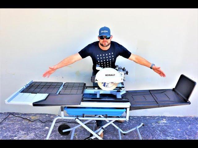 kobalt high capacity wet 10 tile saw