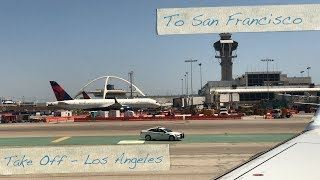 Flying - Take Off from Los Angeles LAX Airport  (U.S.A.) on Am…