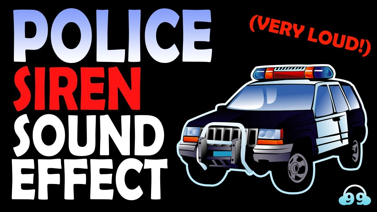 Police Siren Sound Effect Very Loud Youtube Sound Soundeffect Siren Use This Sound In Your Videos Or Music Clips Police Siren Sound Effects Siren