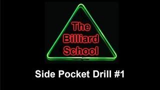Pool and Billiard Drills - Side Pocket Drill #1
