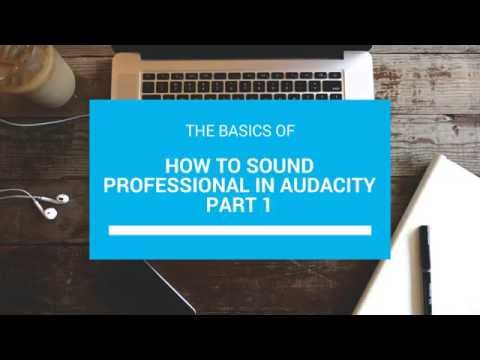 How to make your voice sound professional in Audacity