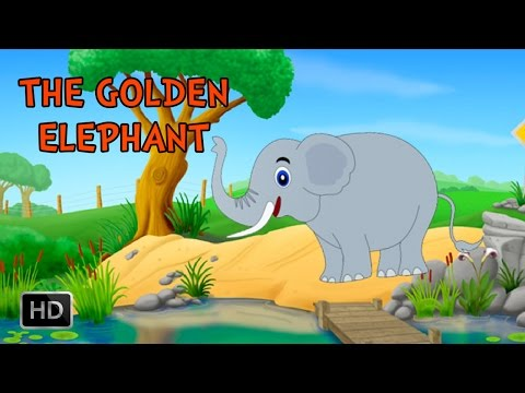 Jataka Tales - The Golden Elephant - Animated / Cartoon Stories for Kids