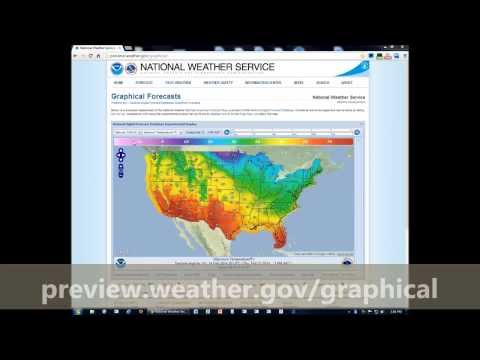 How To: Visualize & Map Your Forecast From The National Weather Service