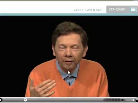 Funny video - Eckhart tolle curses while telling a joke! :D lol