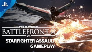 Star Wars Battlefront II - Starfighter Assault Gameplay Demo | PS4
