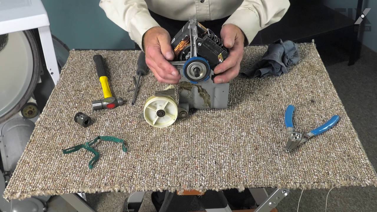 Maytag dryer repair how to replace the drive motor youtube for Replace dryer motor or buy new