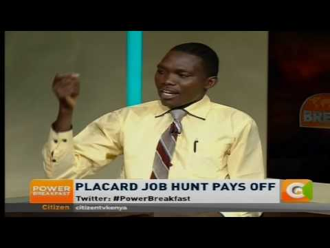 Power Breakfast: Placard job hunt pays off