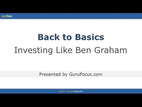 Back to Basics: Investing Like Benjamin Graham