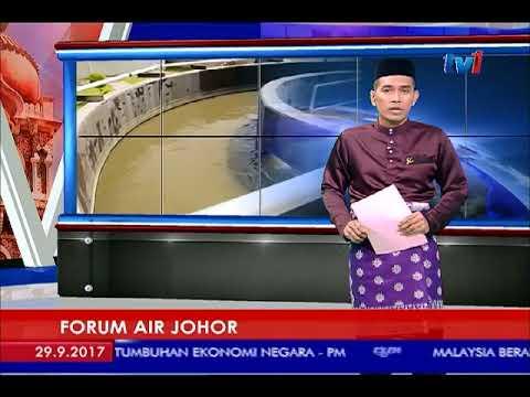FORUM AIR JOHOR - BAKAL DISERTAI LEBIH 100 PAKAR PENGURUSAN AIR [29 SEPT 2017]