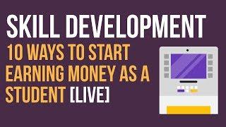 10 Ways to Start Earning Money as a Student [LIVE]   Ayman Sadiq