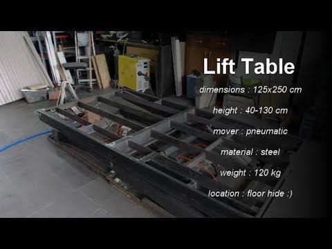 DIY Extreme lift table 250x125