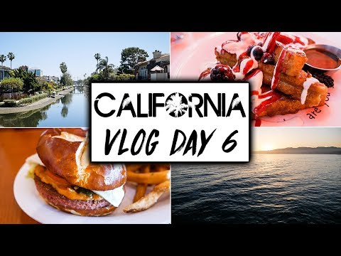 California Travel VLOG Day 6  |  LA/Los Angeles Vegan Food!  |  Venice Beach and Santa Monica Pier