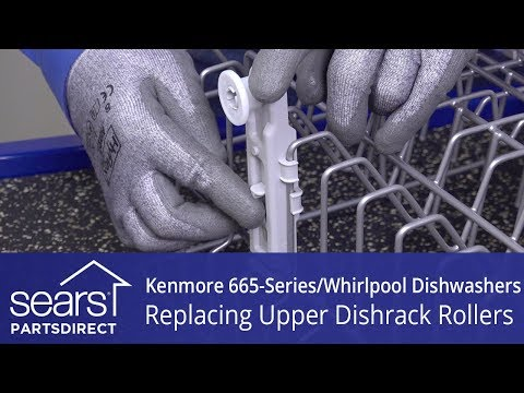 Stationary And Adjustable Roller Replacement - Kenmore 665-Series And Whirlpool Dishwashers